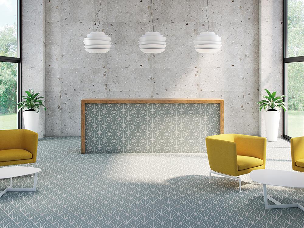 marrakech hexagon meraki lily aquamarine green tile